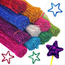 CXZYKING 100pcs Montessori Materials Chenille light Educational Toys Pipe Cleaner Handmade DIY Toys For Children On Stickers