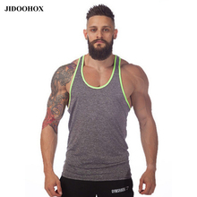 2017 tank top men vest Solid bodybuilding shirts shark men vest singlet men fitness cheap throwback jerseys brand-clothing