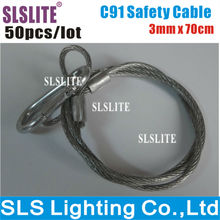 50PCS/LOT Stage Lighting Safety Cables lighting safety cable/safety cable for stage lighting/steel safety cable