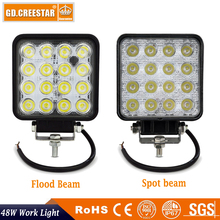 GDCREESTAR 16led 4Inch 48W LED Work Light for Indicators Motorcycle Driving Offroad Boat Car Tractor Truck 4x4 SUV ATV Flood x1(China)