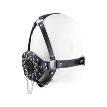 Bdsm Toys Open Mouth Ejaculation Swallow Bdsm Open Mouth Gag Full Head Harness Slave Mask Gag Sex Toys for Couple Restraints(China)