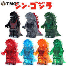 TMGT Single Sale Building Blocks American Science Fiction Monster Movie Super Heroes Ice Lava Godzilla Bricks Children Toys(China)