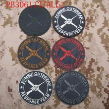 Resident Evil Umbrella Corporation Knives and guns ZRT ZOMBIE OUTBREAK RESPONSE TEAM 3D PVC patch Badges