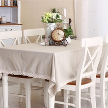 Plain natural qualities of cotton tablecloth tables universal dust cover coffee table towel tablecloth(China)