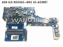 For HP ProBook 470/450 G3 i3-6100U 1 Laptop Motherboard 855561-601 855561-501 DAX63CMB6C0 100% working(China)