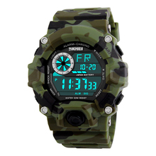 SKMEI Army Camouflage led military wrist watches men relojes digital sports watches relogio masculino esportivo s shock clock(China)