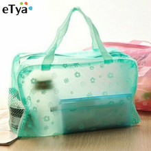 1Pcs Translucent Floral Travelling Bag Cosmetic Storage Bags For Towel Soap Washing Bath Products 5 Colors Available