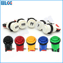 1 PCS High Quality Push Arcade Button Jamma Game Long Push Microswitch for Arcade Game Machine DIY Mult Color(China)