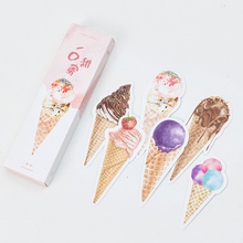 Creative Cute Ice-cream Cone Paper Bookmarks For Books Mark Clips Office Teacher Gift Kids Stationery School Office Supplies