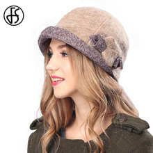 FS Winter Women Beret Hat Fashion Wool Caps Khaki Gray Pink Boinas Femininas Inverno Female Hats Boinas Mujer(China)