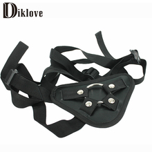 Buy Diklove Strap Dildo Adjustable Penis Strapon Corset Style Harness Detachable Stainless steel Ring Lesbian Sex Toy Sex Product