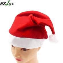 1pcs Red Christmas Hat Caps For Adult Children Kids New Year Birthday Festive Gifts Home Party Decoration Santa Claus Hat JK1410