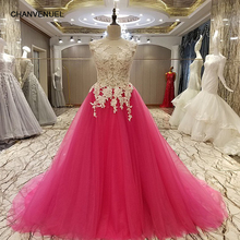 LS94900 evening gown corset back beaded tulle A line sweetheart long evening dress on sale abendkleider lang real photos(China)