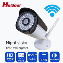 IP Camera  Wireless HD 1.0 Megapixel CMOS  Resolution 720P IP66 Waterproof outdoor IR CUT day and night mode auto switch