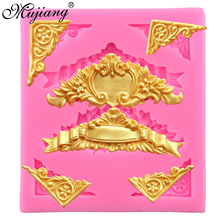 Mujiang European Flower Pattern Relief Silicone Mold Fimo Clay Candy Molds Fondant Cake Decorating Tools Chocolate Moulds XL278(China)