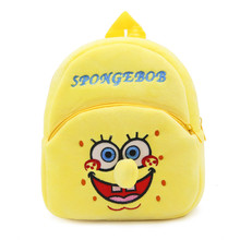 Zshop Cartoon Sponge BOB Bookbag 1 to 3 Year Old Schoolbag Children Backpack(China)