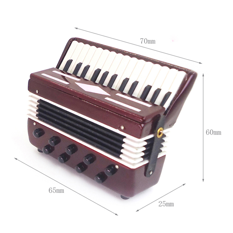 G07-X215 children baby gift Toy 1:6 Dollhouse mini Furniture Miniature rement Doll accessories accordion 1pcs<br>