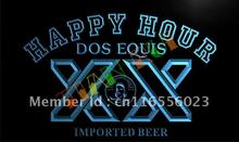 LA612- Dos Equis Beer Happy Hour LED Neon Light Sign(China)