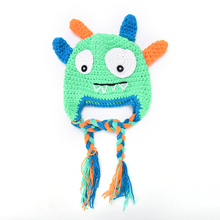 G Novelty Monster Design Crochet Baby Beanies Toddler Knitting Monster Hat Caps with Earflap Halloween Birthday Gifts(China)