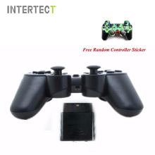 Black Wireless Game Controller For Sony PS2 Jogos Controle Wireless Double Vibration Joystick For Playstation 2 Gamepad Joystick