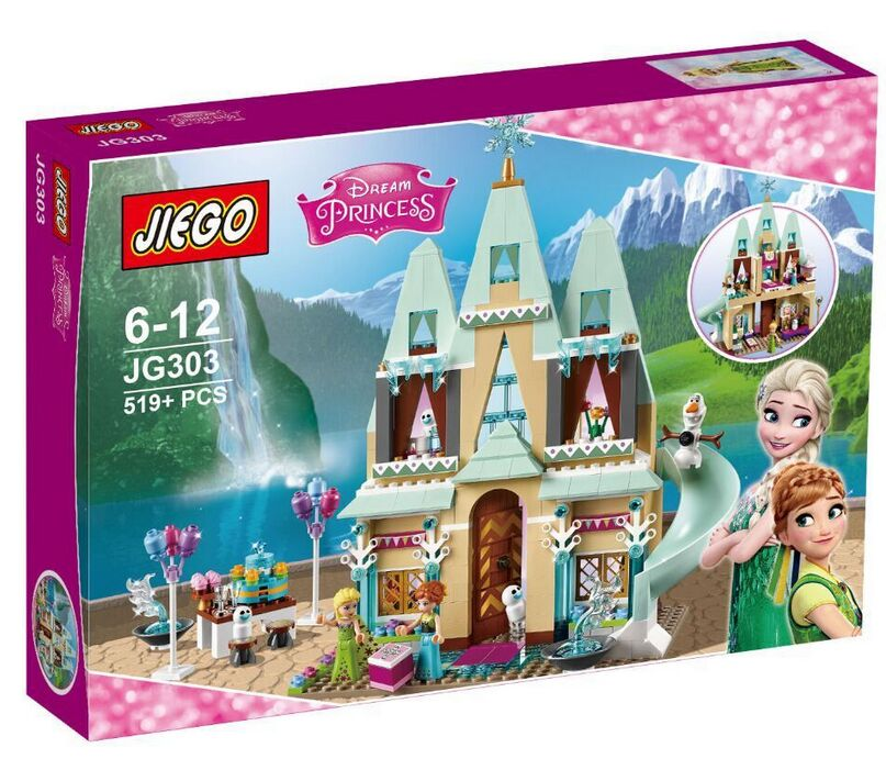 New JG303 Building Blocks Arendelle Castle Princess Anna Elsa  Buildable Figures SY371 With Lepin friends 41068<br><br>Aliexpress