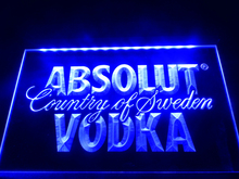 LE025- Absolut Vodka Country of Sweden Beer Neon Bar Light  Sign      home decor  crafts