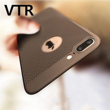 luxury Heat dissipation phone case for iphone 5 5s se 6 6s plus cover cool matte plastic hard pc cases for iphone 7 7 plus shell(China)