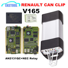 2017 High Quality AN2131QC Cypress Gold PCB Renault Can Clip V165 Full Chip Stable Function Auto Diagnostic Scanner For Renault