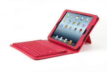 Wireless Bluetooth Silicone Keyboard Stand Leather Case Cover For Apple iPad Mini 1 2 3 with wireless Keyboard(China)