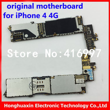 for iphone 4 4g original motherboard 16GB mainboard good working for Apple OEM logic board unlocked IOS system board with chips(China)