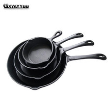 16-20 cm Black Mini Not Sticky Casting Iron Pan Stone Layer Frying Pot Saucepan Small Fried Egg Pot Use Gas And Induction Cooker(China)