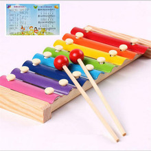 1PC Wooden Frame 8 Scales Knocking Piano Children Kid Musical Toys Music Instrument Toy Early Learning Musical Toy