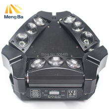 2017 New Arrival CREE MINI LED 9x10W Led Spider Light RGBW 16/48CH DMX Stage Lights Dj Led Spider Moving Head Beam Light(China)
