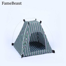 FameBeaut Foldable Dogs Cat Tent Pet Cat House Dog Cat Bed All Seasons Dirt-resistant Outdoor Camping Home Travel House Pet Tent
