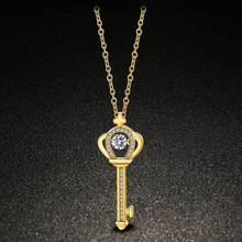 David Kabel Female Golden Key Necklace,silver Key Pendant Personality Short Clavicle Women