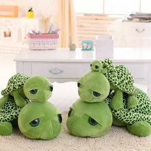 20cm Army green Big eyes turtle plush toy turtle doll turtle kids as Birthday Christmas gift(China)