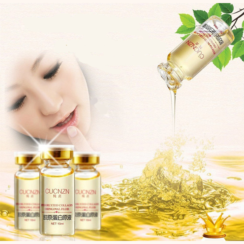 1PCS Collagen Liquid Face Cream Anti Aging Collagen Serum Anti-Fine-lines Whitening Cream Skin Care Moisturizing Renew Face Care 9