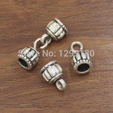 50sets/lot Antique Silver Fold Over Lobster Clasp For Necklace Bracelet Chain DIY Jewelry Accessory Parts 30x10mm Hole:6mm K2153