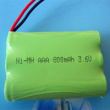 Free shipping cordless phone battery pack Ni-MH Ni mh AAA 3.6V 800mAh wireless telephone battery pack 50pcs/lot(China)