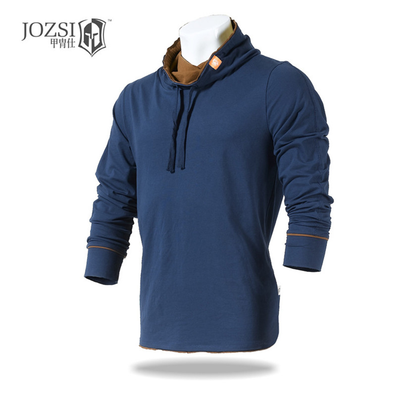 2017 JOZSI New Outdoor Causal T shirt Cotton Full long Sleeve For Men Active Style Sports Hiking Camping Trekking T-Shirt<br><br>Aliexpress