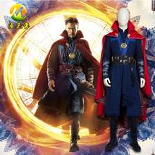 Doctor Strange Steve Cosplay Costume Full Suit For Adult Man Halloween Carnival Costume Blue Color Size Can Be Customized