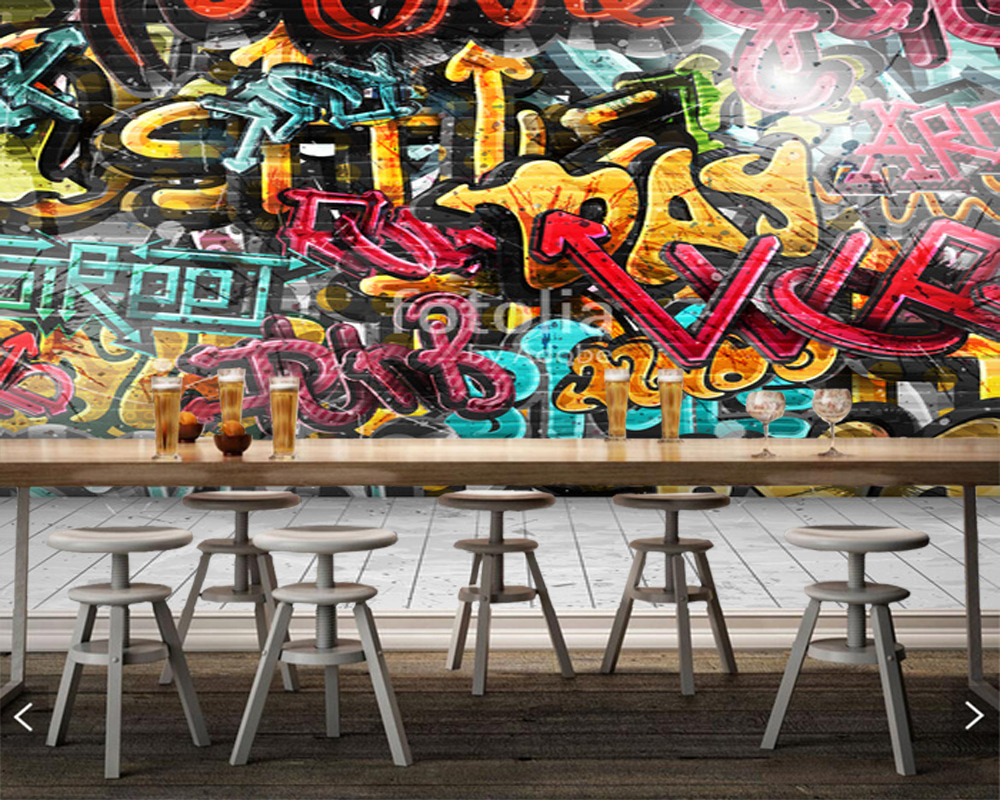 Customized children wallpaper,Graffiti on wall,frescoes for living room bedroom children room background wallpaper<br>
