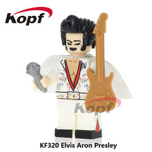 Super Heroes Elvis Aron Presley Michael Jackson Charlie Chaplin Ronald McDonald Bricks Building Blocks Children Gift Toys KF320