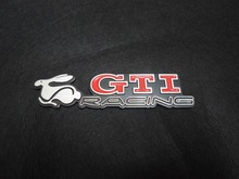 3D Metal Gti Racing Rabbit Emblem Car Fender Side Rear Trunk Lid Badge Sticker For VOLKSWAGEN VW Golf MK5 GM
