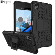 For Sony Xperia X Performance Case Bags ShockProof Hybrid Dual Layer Silicone + PC Phone Cover Defender Kickstand(China)