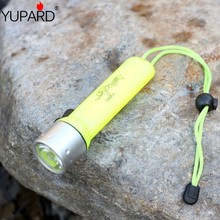 yupard Diving Dive Q5 LED Flashlight Waterproof Underwater Torch Lamp white light yellow light AA battery(China)