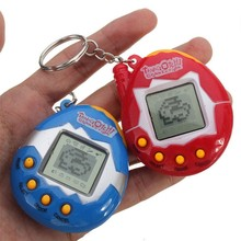 Mini Learning Machines Pets Virtual Cyber Pet Game Child Toy Key Buckles Education Toys LED Light