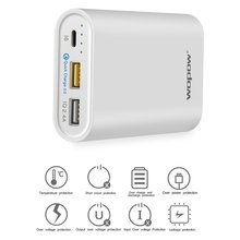WOPOW 10000mAh Fast Charging Mobile Power P10S Dual USB Output Portable External Battery Pack With LED Light Indicator(China)