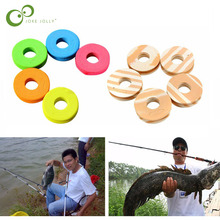 10Pcs/Pack Fishing Line Circular Winding Plate Foam Board Trace Wire Swivel Tackle WYQ(China)
