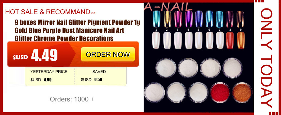 Hot Aliexpress 12 Colors Acrylic Powder Manicure Tips Nail Art 3d